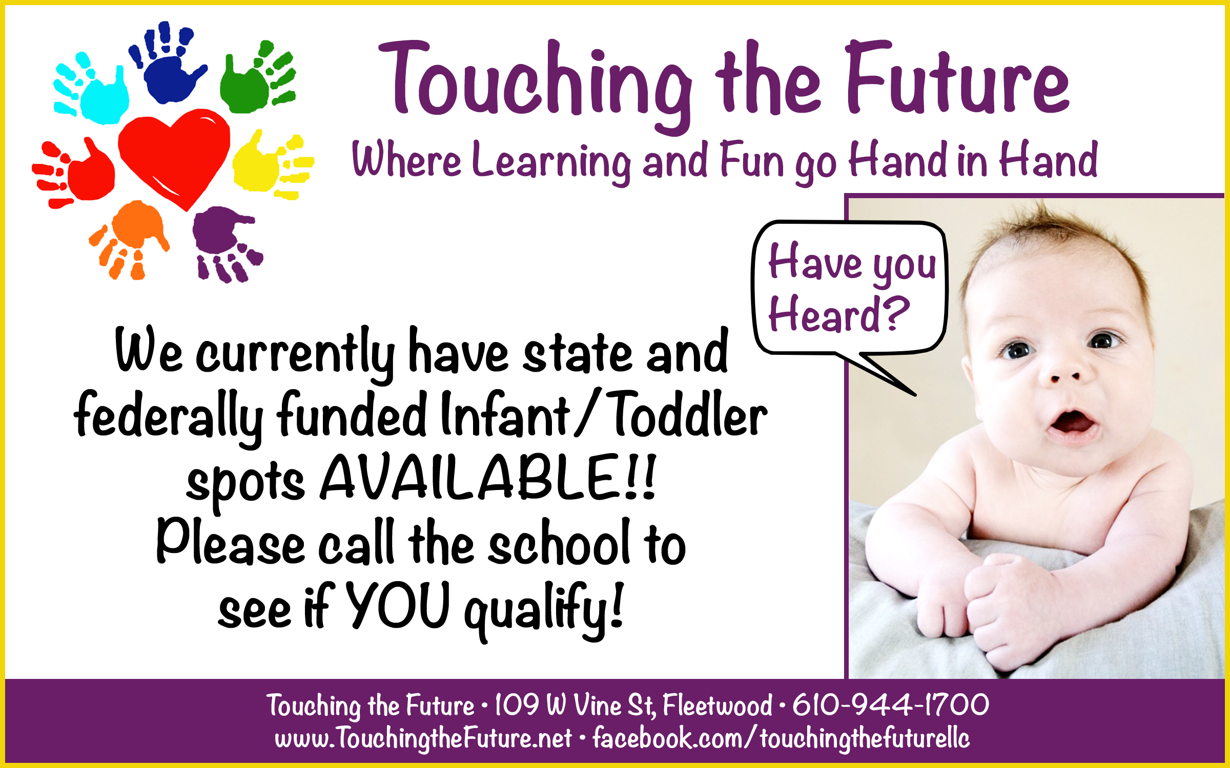 infant:toddler recruiting